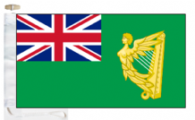 Ireland Historical Civil Green Ensign Courtesy Boat Flags (Roped and Toggled)